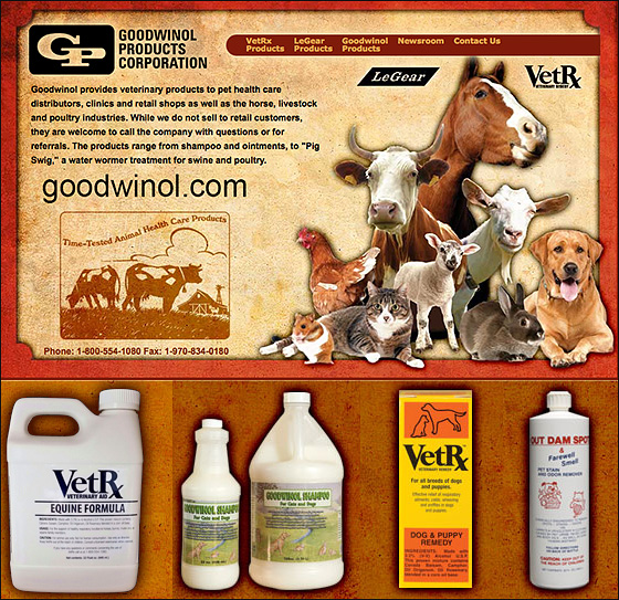 Goodwinol Dog Products